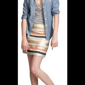 JCrew Delphine Striped Skirt